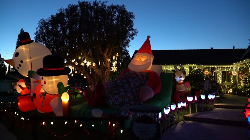 Brea Christmas Lights.Brea Dec 4 Beautiful Christmas Stock Footage Video 100 Royalty Free 1020532714 Shutterstock