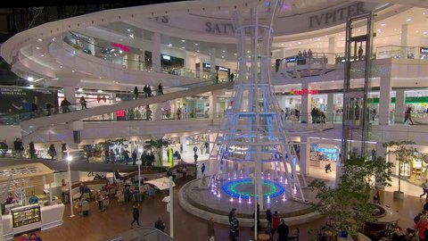 SZCZECIN, POLAND - NOVEMBER 2018: Shopping mall in Szczecin, Poland