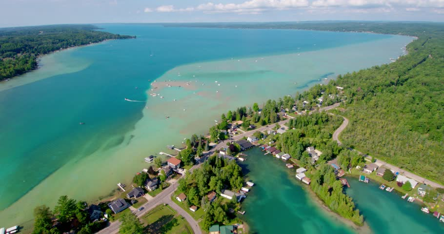 Drone Shot of Torch Lake, Stock Footage Video (100% Royalty-free)  1020769714 | Shutterstock
