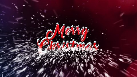 Merry Christmas Animation, made of snowflakes, * 4K resolution 3840x2160, * Works with any software