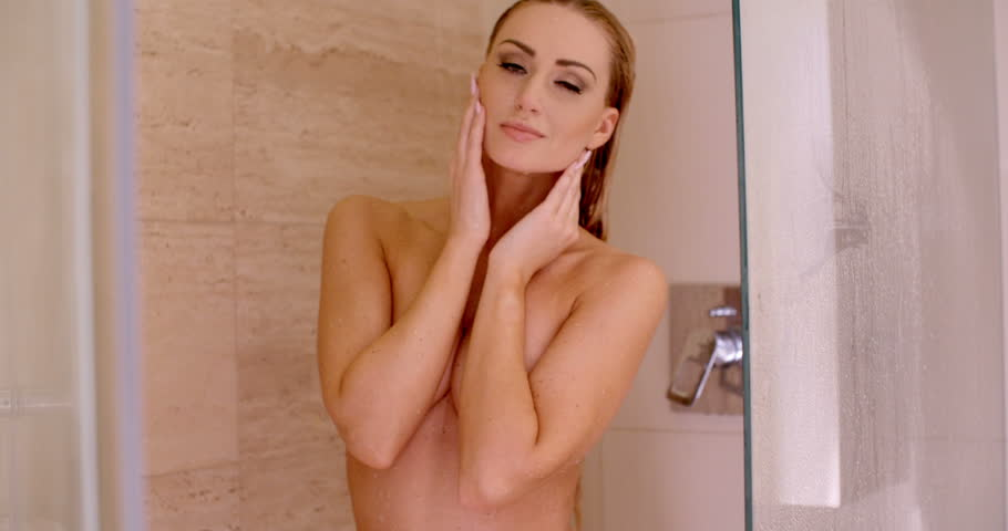Naked woman shower videos