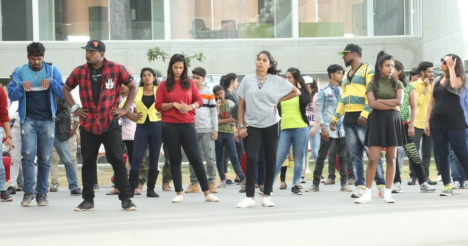 Dancers in practice 12th Dec 2018 Hyderabad India   Shutterstock HD Video #1021040254