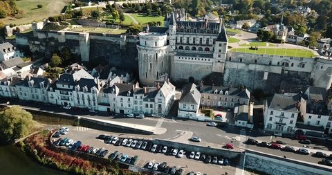 AMBOISE, FRANCE - OCTOBER 8, 2018: Chateau d'Amboise in Amboise, France