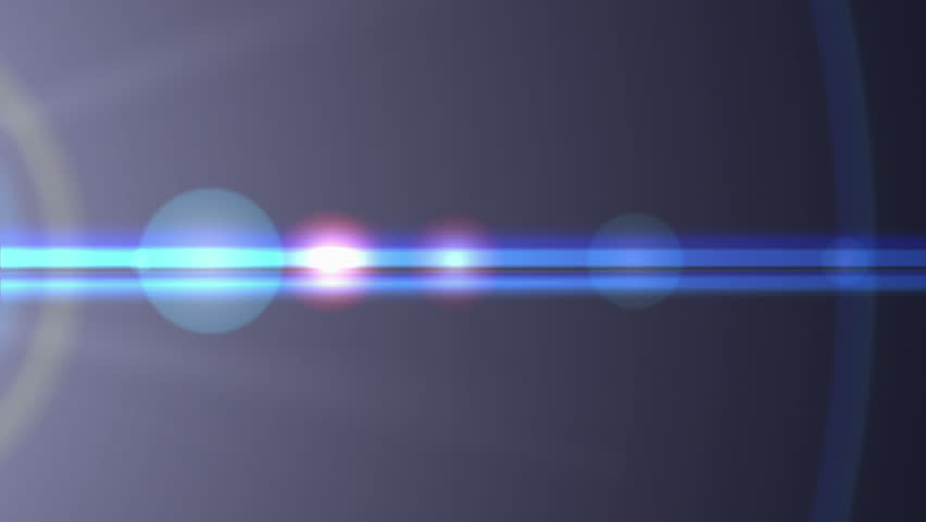 Blue colored lens flare transition with streaks and glare to an from white frame