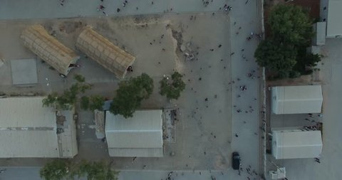 Aerial shot of Syrian refugees camp in Gaziantep,Turkey