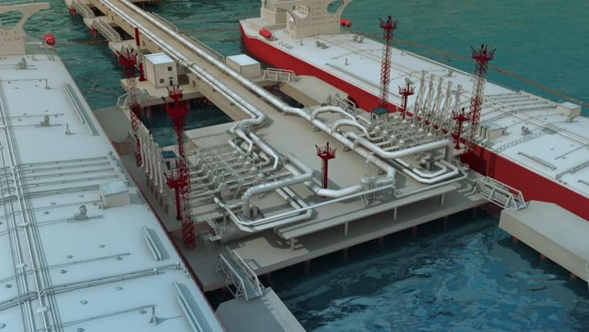 Oil tankers to load oil | Shutterstock HD Video #10213664