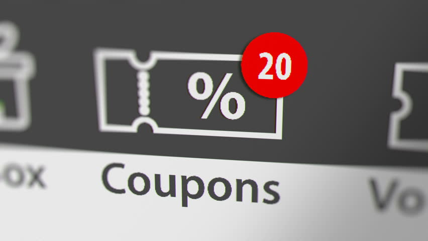 Coupons Icon with Animated Counting Stock Footage Video (100% Royalty-free)  1021372204 | Shutterstock