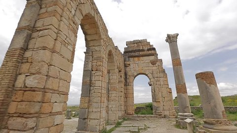 The city of Volubilis built by the ancient greeks in morocco