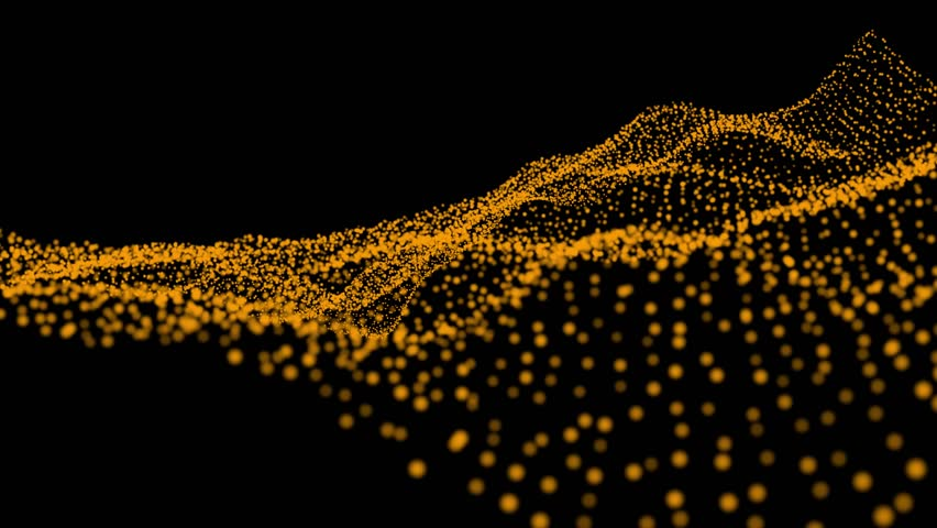 Digital wave particle background. Abstract background. particles background. #1021570774
