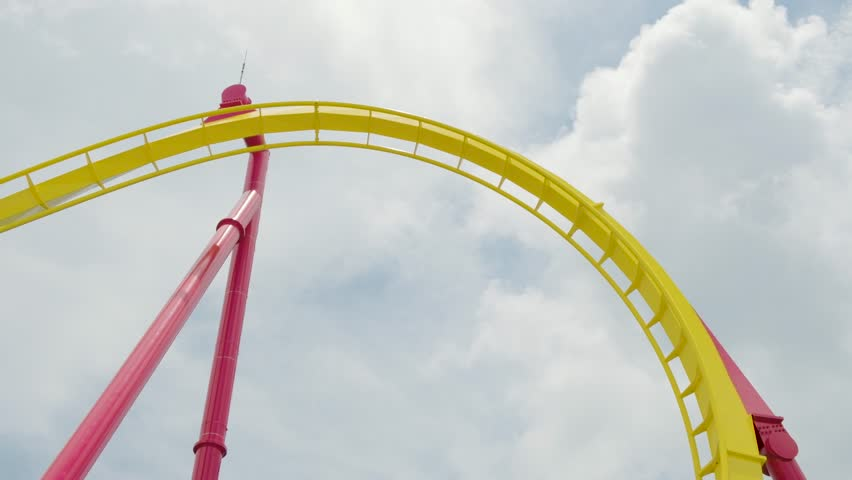 Rollercoaster Upside Down Closeup | Shutterstock HD Video #1021626904