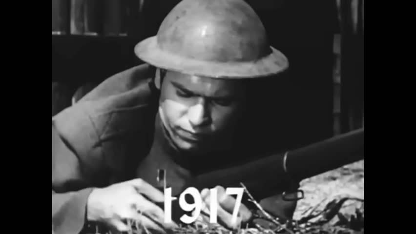 CIRCA 1962 - A montage depicts the US military's dependence on the rifle from the Civil War through WWII (as narrated by a Kentucky Rifle).