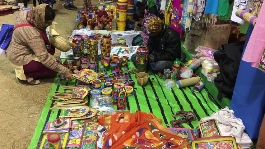 Kolkata West Bengal India December 29th 2018 Handicrafts Stock
