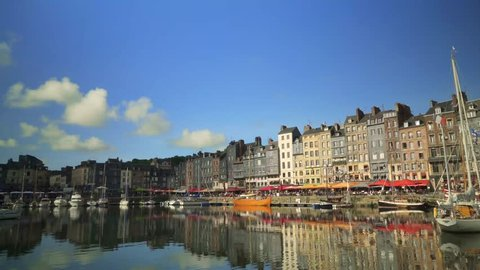 The beautiful harbor of Honfleur