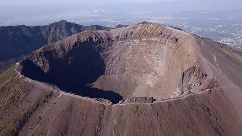 the crater of Mount Vesuvius