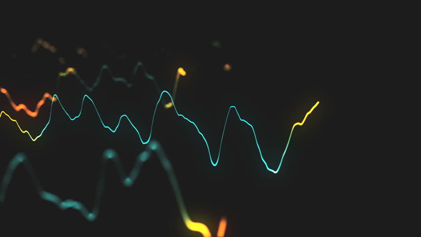 Animation growth of abstract charts with changing values of check points on dark background. Animation of seamless loop.   Shutterstock HD Video #1022110324