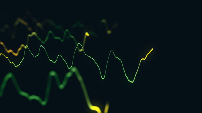 Animation growth of abstract charts with changing values of check points on dark background. Animation of seamless loop.   Shutterstock HD Video #1022111074