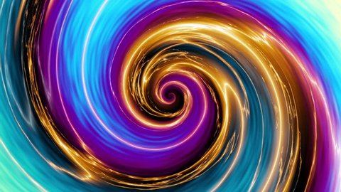 Endless spinning Revolving Spiral. Seamless looping footage. Abstract helix with plasma effect.