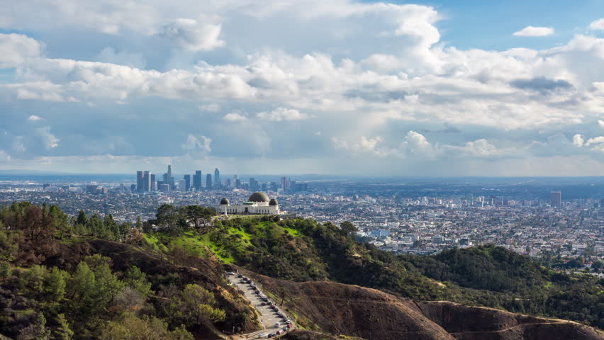 Los Angeles and Griffith Observatory Cloudscape Day Timelapse | Shutterstock HD Video #1022466724