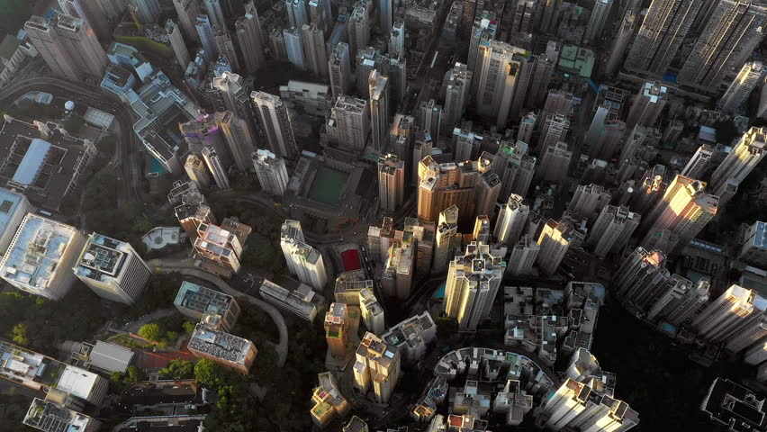 Fly over Urban city scene around Victoria peak and Victoria Harbour with Day light, Hong Kong Transportation, 4k high resolution video | Shutterstock HD Video #1022637754