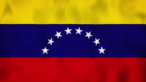 Venezuela flag on the wind, animated in 4k. Great background for motion design and animations or text. Flag calmly waving on the wind.
