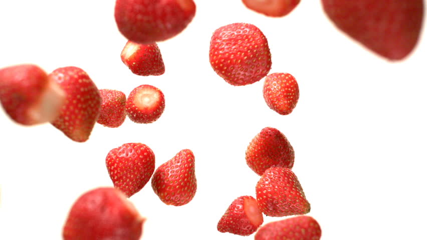 Strawberries Flying Falling in the Air Tabletop Shot on High Speed Phantom Camera | Shutterstock HD Video #1022696134