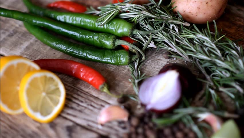 Fresh vegetables on the table | Shutterstock HD Video #1022702524