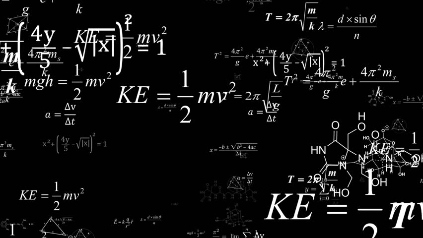 The camera flies to the formulas. Dolly zoom.Camera fly through matrix made up of math formulas and equations.Mathematical cognitive process. Abstract cognitive process concept. | Shutterstock HD Video #1022800384
