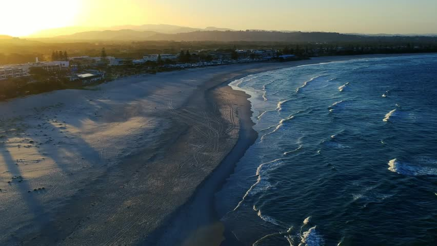 Ocean meets land - aerial footage, high altitude | Shutterstock HD Video #1022843404