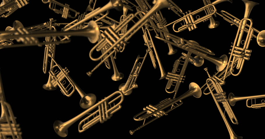 Trumpets falling slow motion | Shutterstock HD Video #1022872564