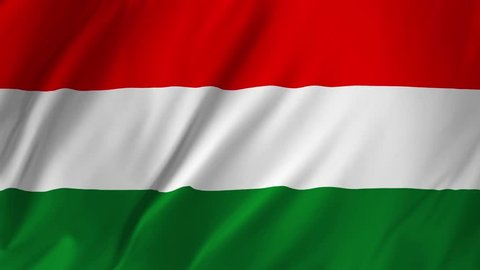 Flag of Hungary gently waving in the wind 2 in 1