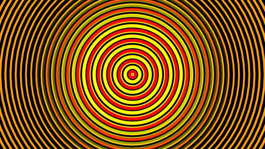 Abstract Hypnotizing Circles Zoom Endless Stock Footage Video