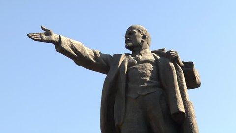 Lenin Statue in Bishkek on Ala-Too Square circa  in Bishkek,  the Kyrgyz Republic 07.07.2010