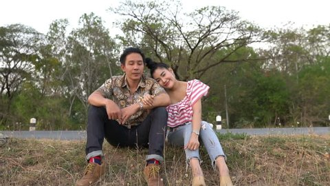 Picture of asian couple in love have fun,Happy people concept, Thailand people, Love is everything, Valentines day