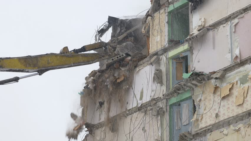 Building Demolition  Sequence Shots  Using Stock Footage Video (100%  Royalty-free) 1023477574 | Shutterstock