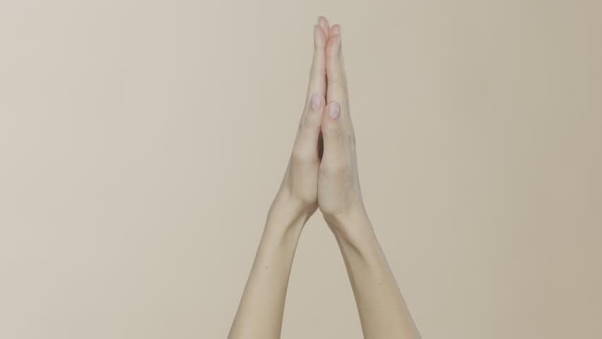 Female hands in studio, cosmetics beauty | Shutterstock HD Video #1023505774