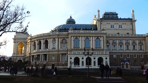 Ukraine, ODESSA - 03 January 2019: The Odessa National Academic Theatre of Opera and Ballet, Odessa Opera and Ballet Theater