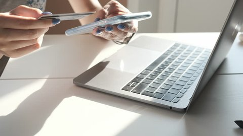 Online Banking with Smart Phone  Stock Footage Video (100% Royalty
