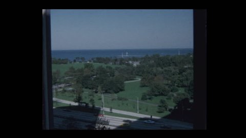 View of Lake Michigan from apartment window 1970