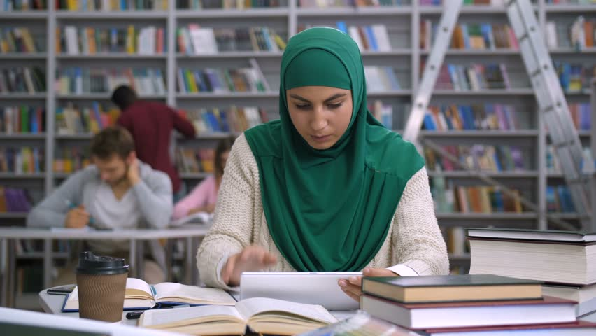 Image result for hijab woman studying