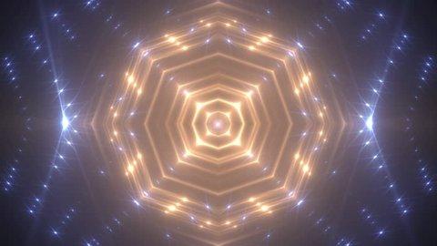 VJ Lights gold and blue flashing spot light. Wall stage led blinder blinking neon. Club concert dance disco dj matrix beam fashion. floodlight halogen headlamp.