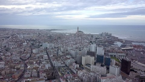 aerial view of the city of Casablanca
