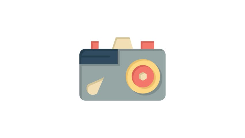 Camera, Education, Image Line Icon Motion Graphic Animation | Shutterstock HD Video #1024090934