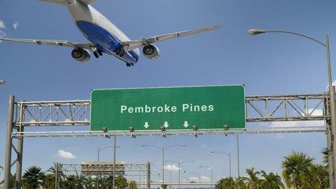 Airplane Landing Pembroke Pines