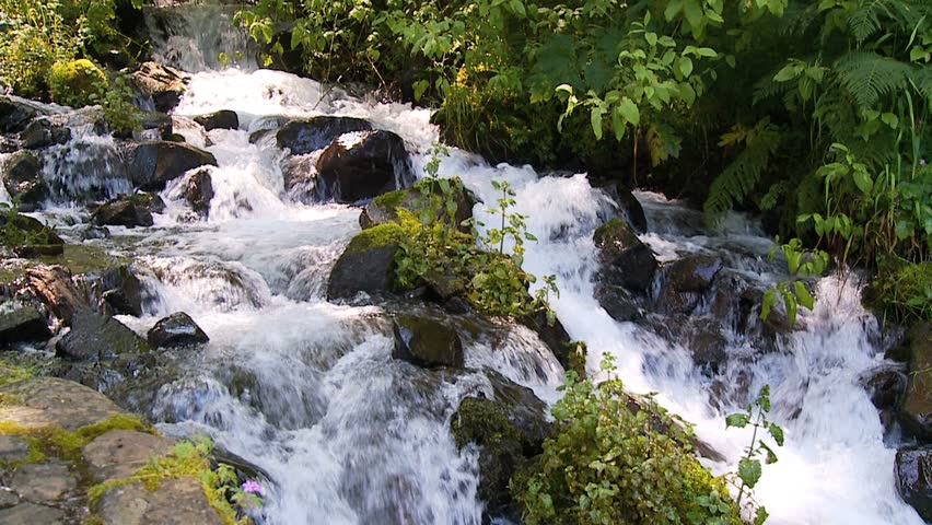 cascading stream slow motion #1024270