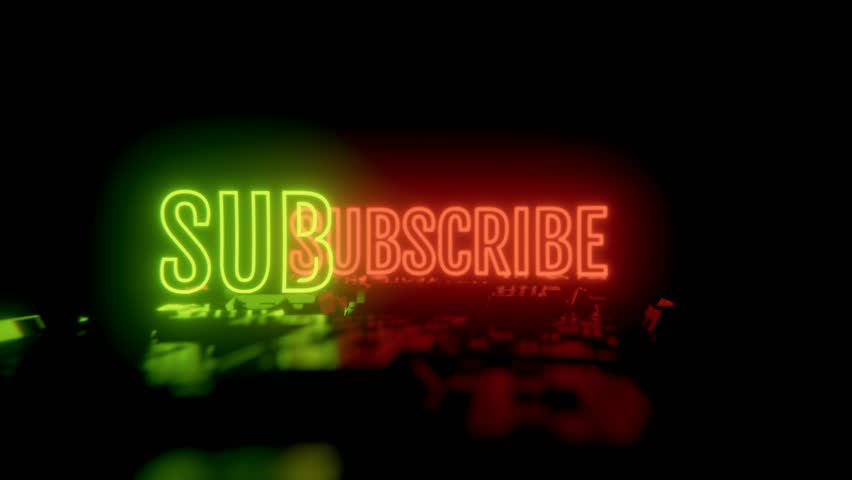 Subscribe 4K clip. Ideal for your Youtube channel, social media. High quality render and animation. Feel free to check my portfolio for more. | Shutterstock HD Video #1024408664
