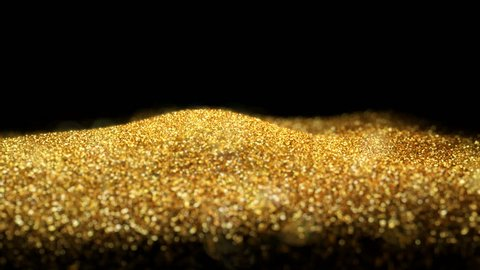 Shiny flowing wave golden glitter seamless VJ loop abstract particle background