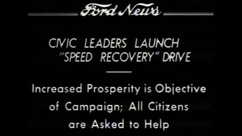 CIRCA 1930 - Civic leaders launch prosperity drive in Detroit in 1934.