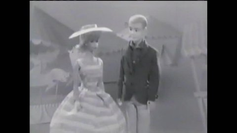 CIRCA 1960s - A commercial from the 1950s, introducing the new Ken doll, Barbie's boyfriend