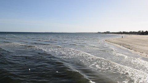Coast of the Baltic Sea. Sea waves