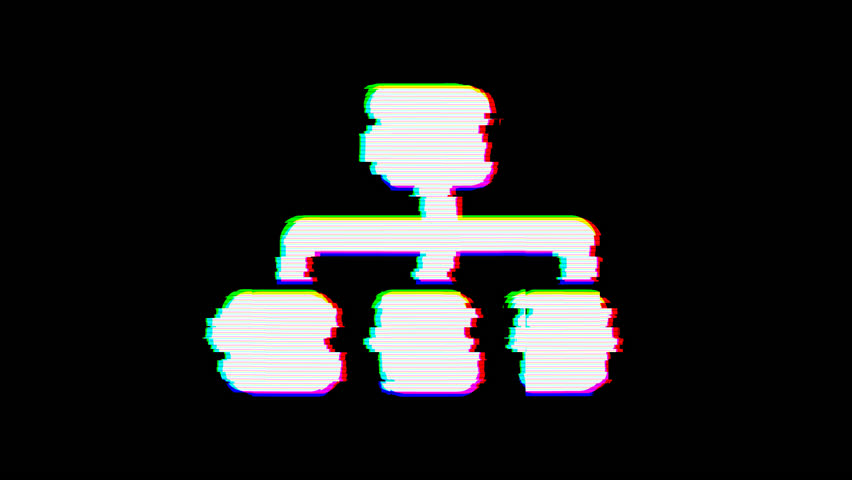From the Glitch effect arises sitemap symbol. Then the TV turns off. Alpha channel Premultiplied - Matted with color black